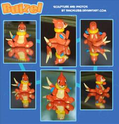 Buizel Sculpture by raichu288