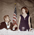 John F. Kennedy, with his wife