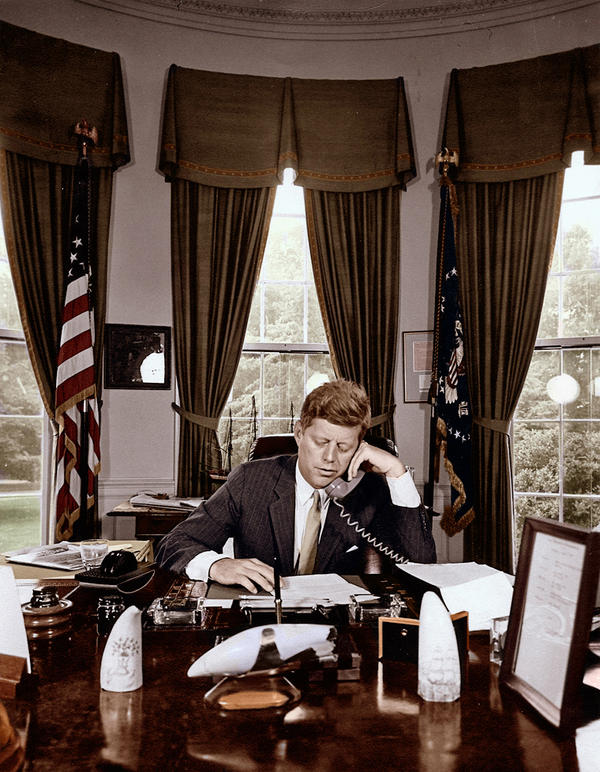 JFK In Oval Office By KraljAleksandar