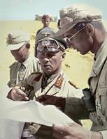 Rommel with Colonel Crasemann by KraljAleksandar