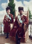 Tsarevich Alexei and his father, Tsar Nicholas II