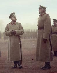 Nicholas II and Grand Duke Nicholas Nikolaevich by KraljAleksandar