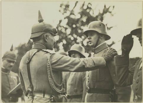 Emperor Wilhelm II visits troops