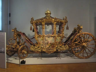 Golden imperial carriage