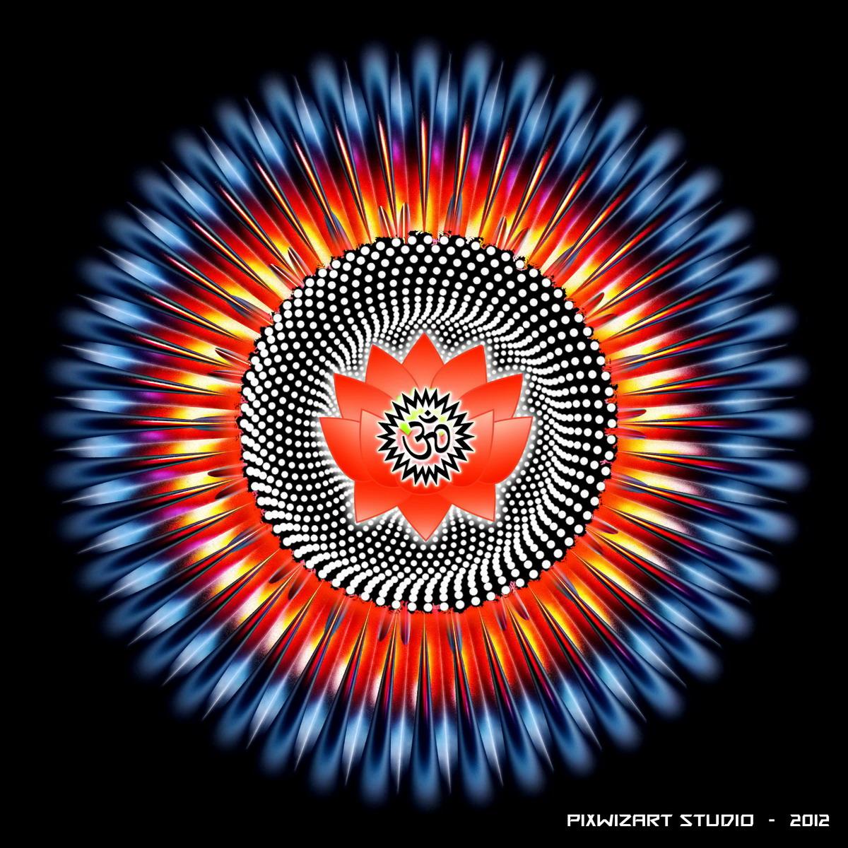 Mandala 3d Om By Pixwizart On Deviantart