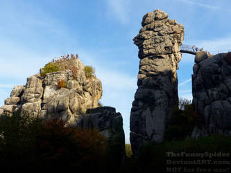 Sunny Externsteine - Germany, October 2018 by TheFunnySpider