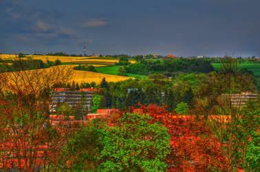 Colorful landscape by Papuajure