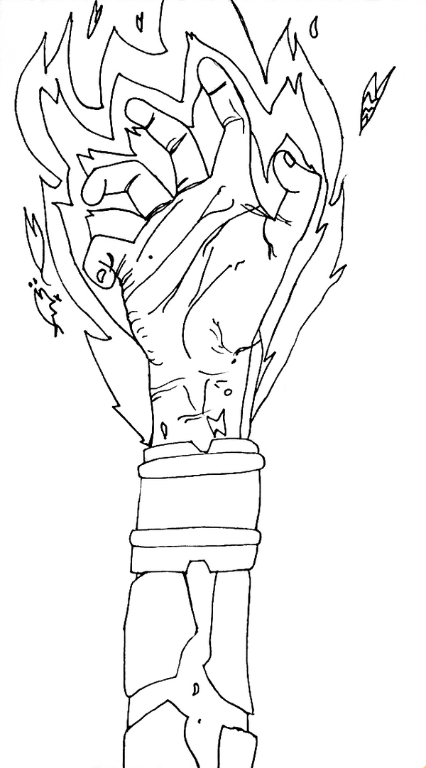 Heat blast coloring pages ~ Heatblast Merging Hand Uncolor by HeatR8 on DeviantArt