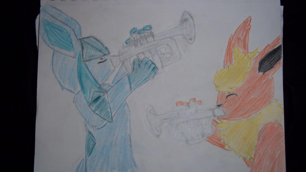 Having fun with trumpets! by FNOKitty