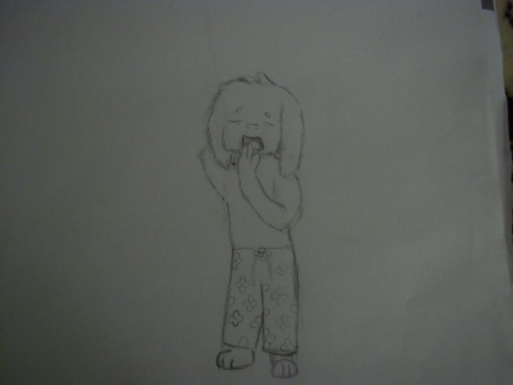 Original sketch of Sleepy Goat Boy by FNOKitty