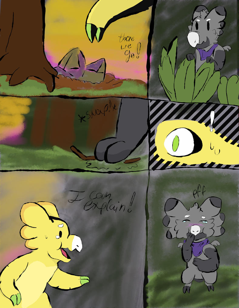 Meeting a new sneaky friend. by FNOKitty
