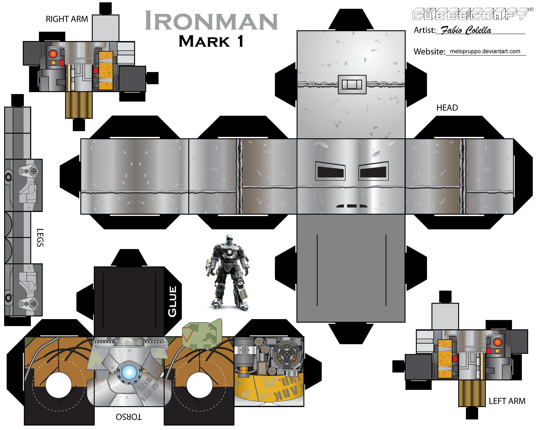 Iron Man Cubeecraft Mark 1 By Melopruppo On Deviantart