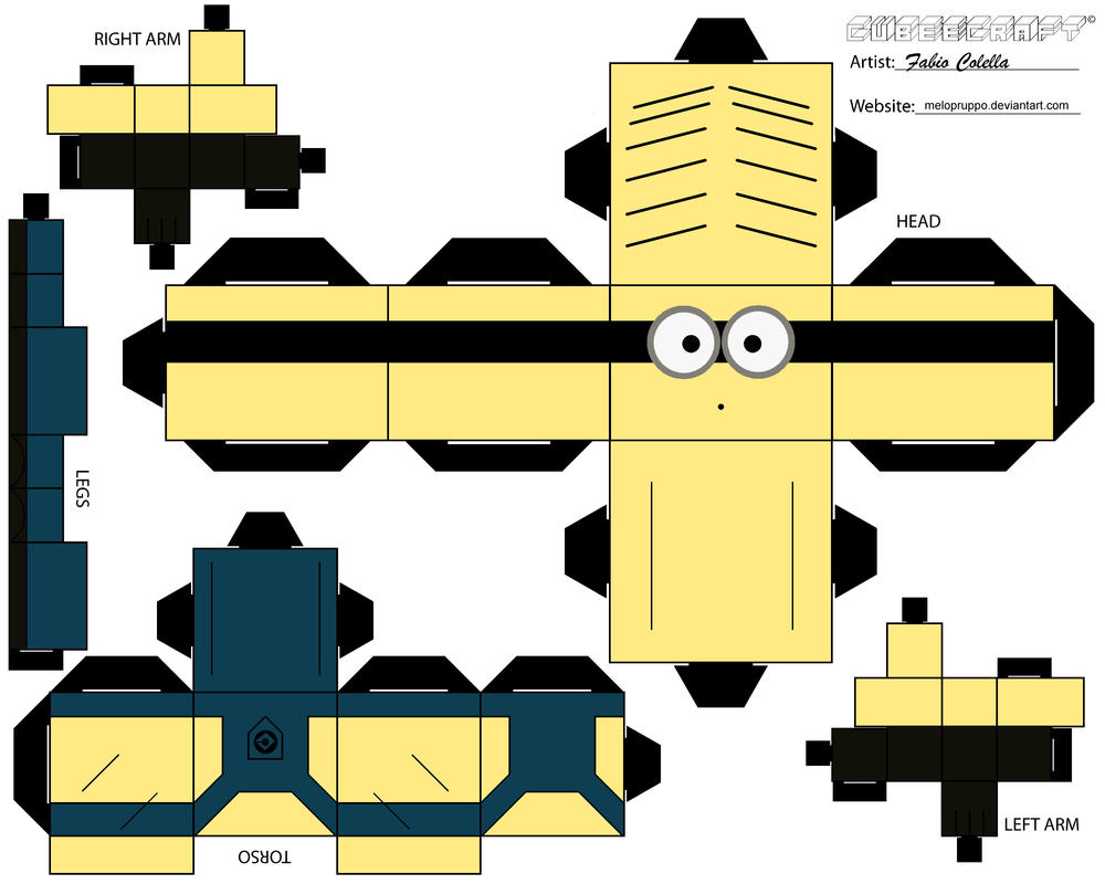 Minion No.2 cubeecraft by melopruppo