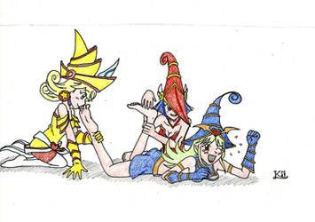 Commission - Cute Magicians' revenge by KingNanamine87