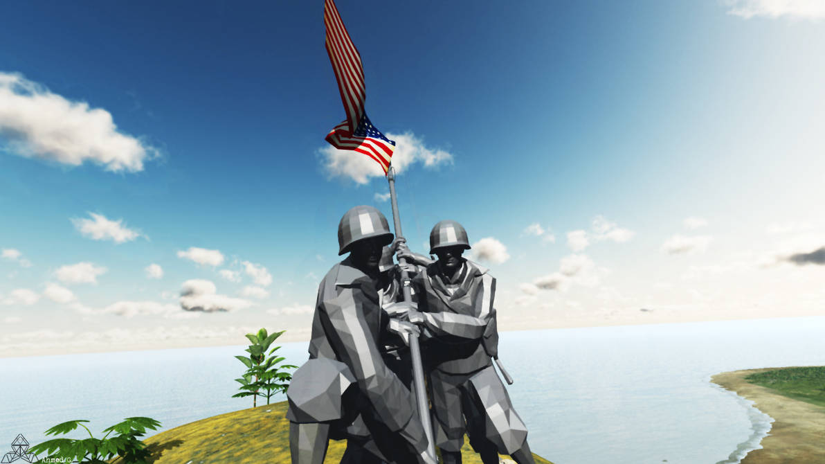 WWII: Iwo Jima, Flag Raising Project by Ahmed7193