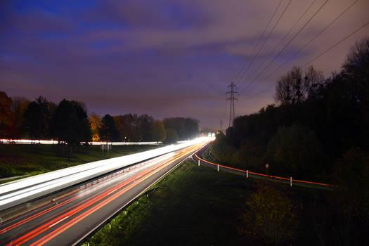 2864 Motorway by night