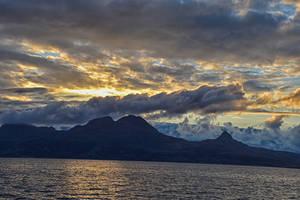 0286 Sunset in Lofoten Norway by RealMantis