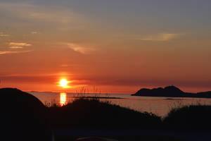 1421 Midnight Sun in Lofoten Norway by RealMantis