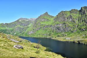 1276 Lake in Lofoten by RealMantis