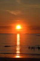 1417 Midnight Sun in Lofoten Norway by RealMantis
