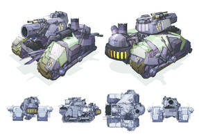 Iron legion heavy tank Ferro by arcane37