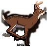 f2u Running pixel deer by Nioa-the-marten