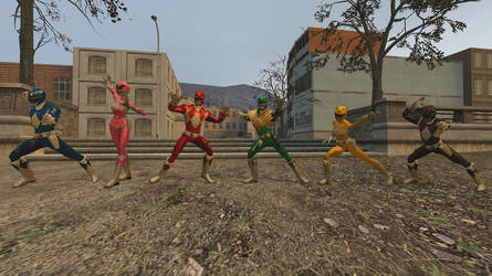 GMOD Mighty Morphin Power Rangers by WildDancer101