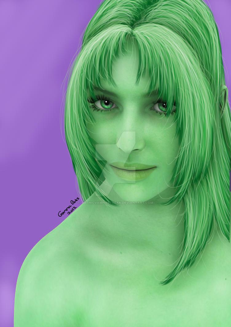 Green by GothicVampireFreak