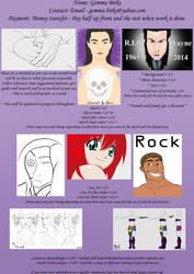 Commission Sheet 2015 by GothicVampireFreak