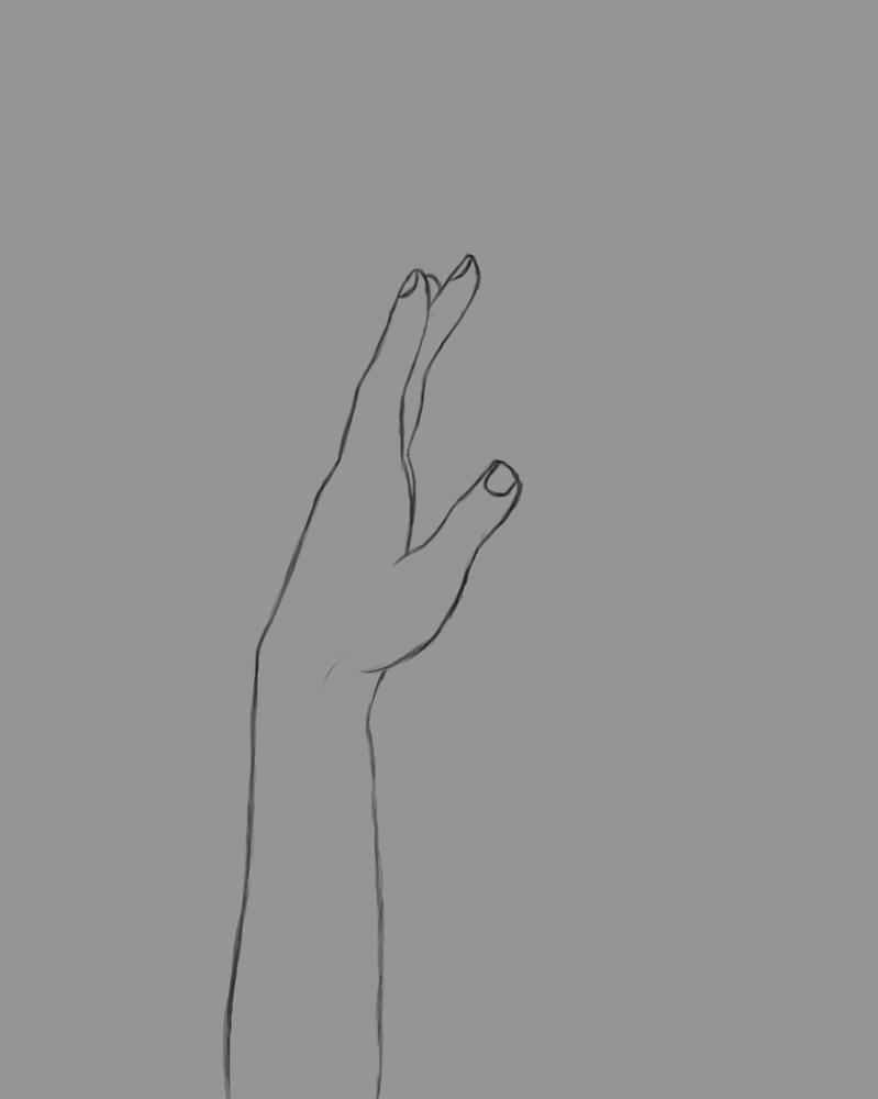 Extend Hand Daily sketch #440 by GothicVampireFreak