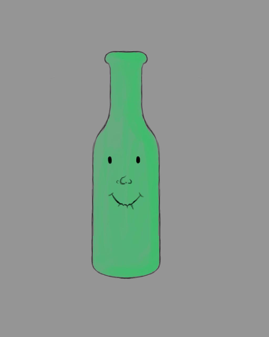 Bottle Daily sketch #449 by GothicVampireFreak
