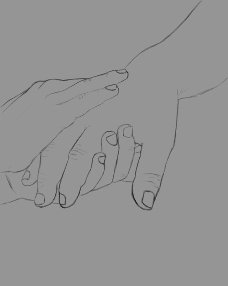 In My Hands Daily sketch #460 by GothicVampireFreak