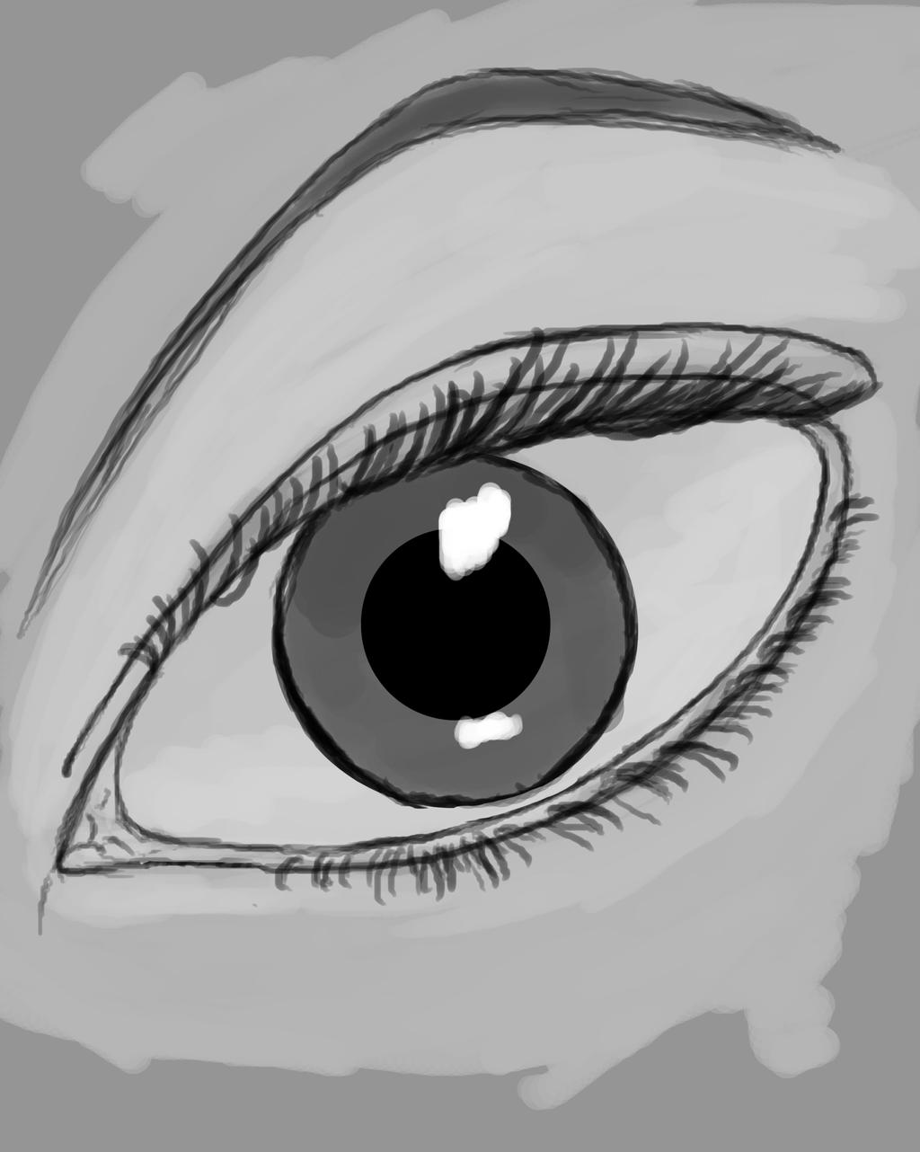 Eye Sketch Daily sketch #479 by GothicVampireFreak