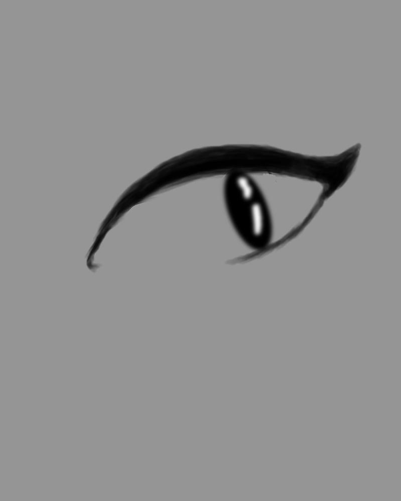 Simple Eye Daily sketch #484 by GothicVampireFreak