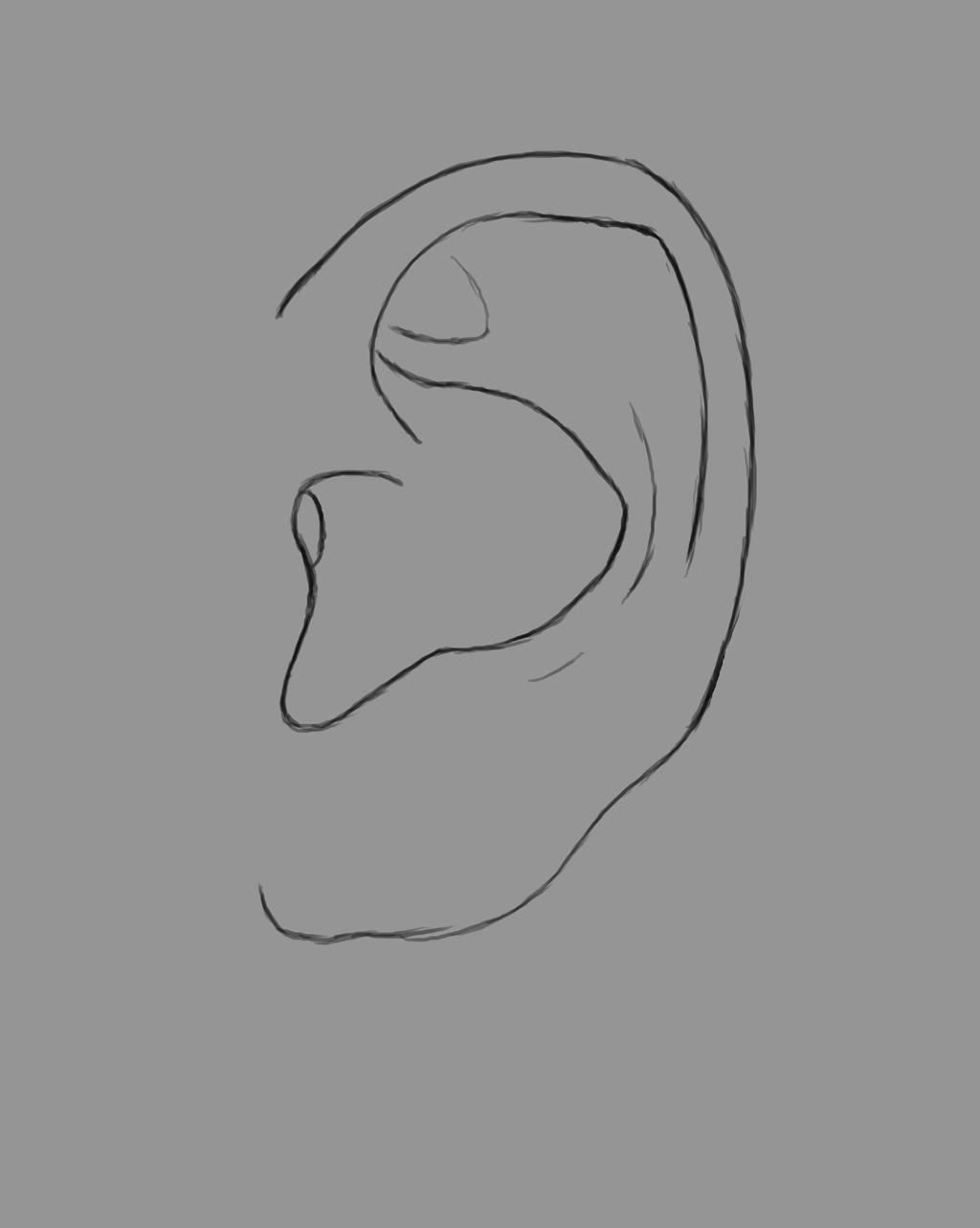 Ear Daily sketch #492 by GothicVampireFreak