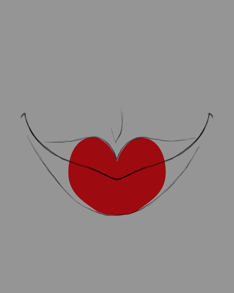 HeartLips Daily sketch #496 by GothicVampireFreak