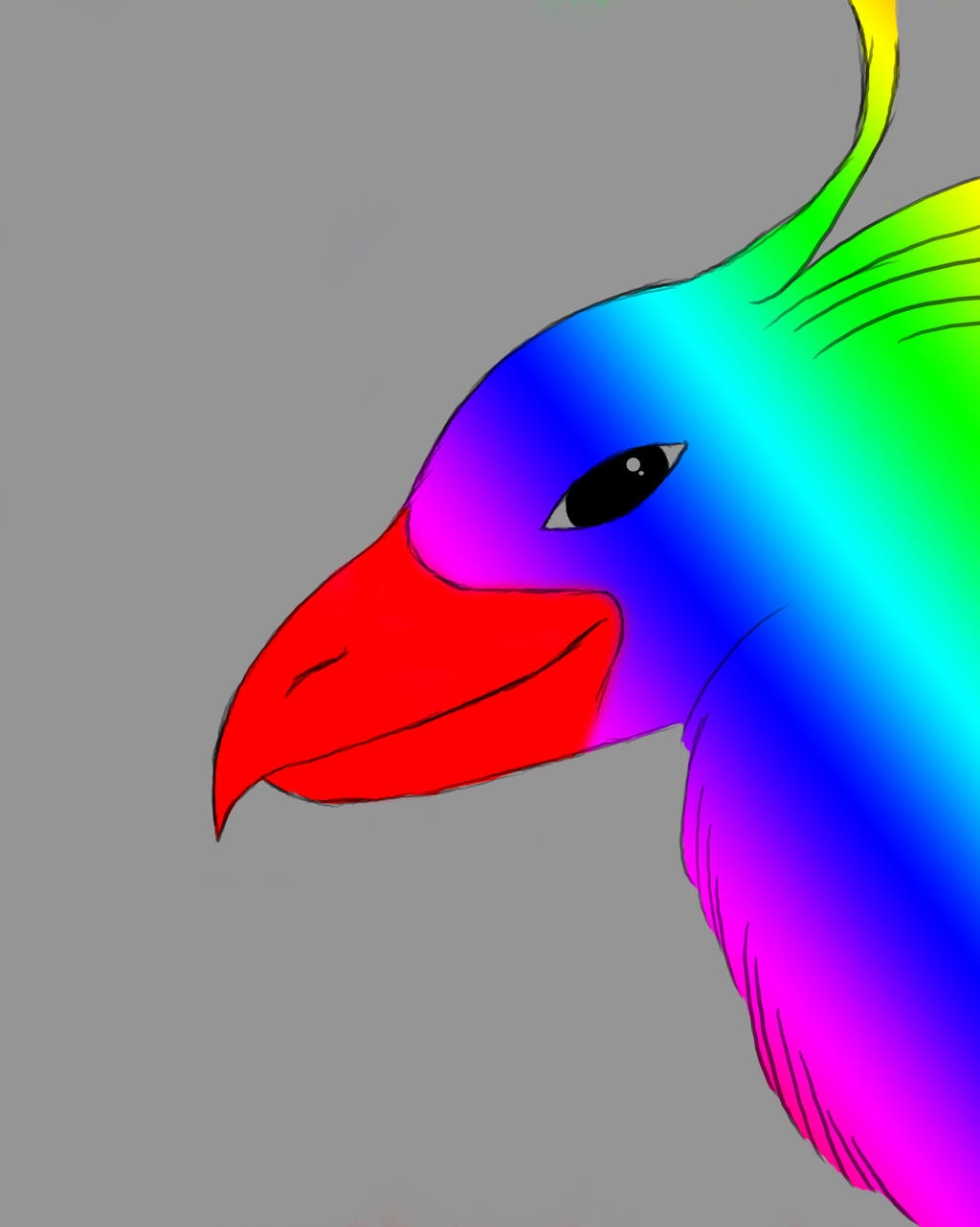 Rainbow Bird Daily sketch #500 by GothicVampireFreak