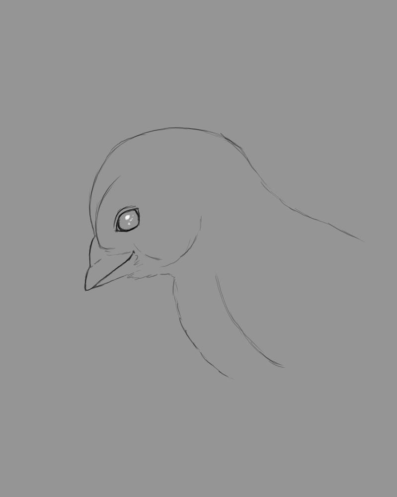 Chick Sketch Daily sketch #501 by GothicVampireFreak