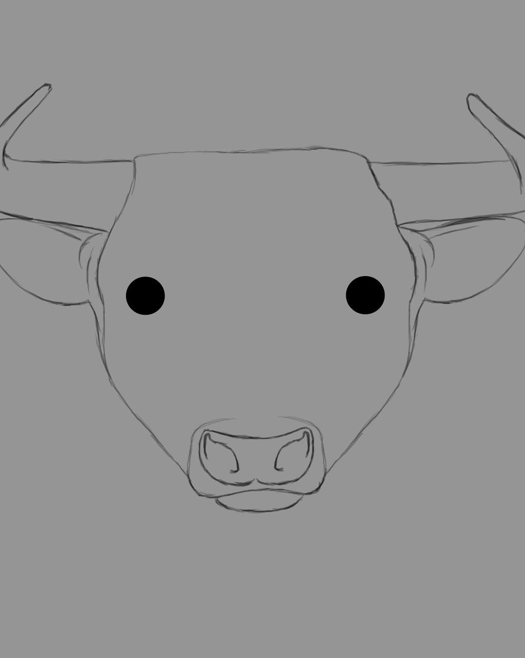Bull Daily sketch #520 by GothicVampireFreak