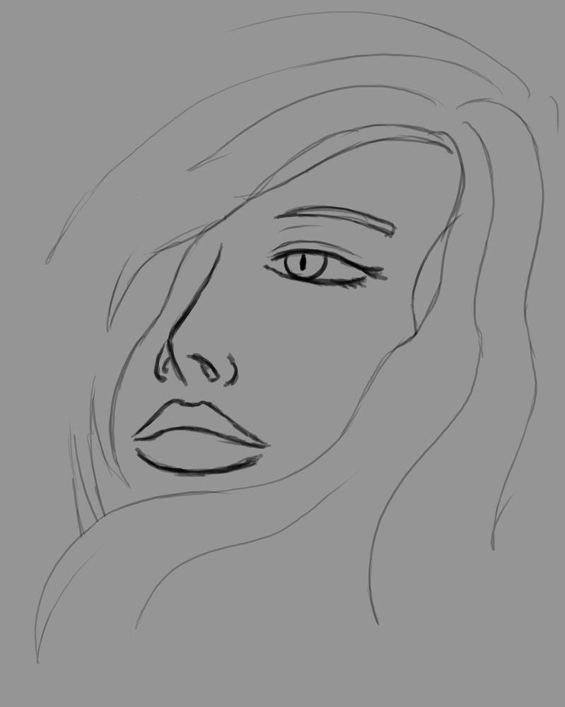 Some Face Daily sketch #528 by GothicVampireFreak