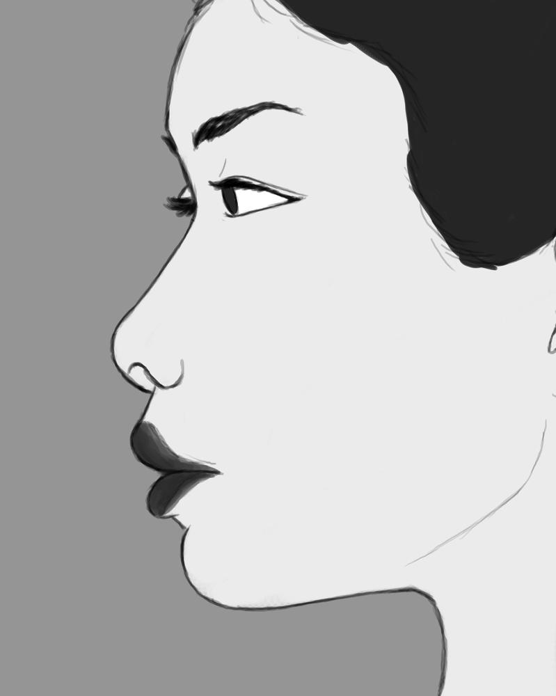 Aside Daily sketch #531 by GothicVampireFreak