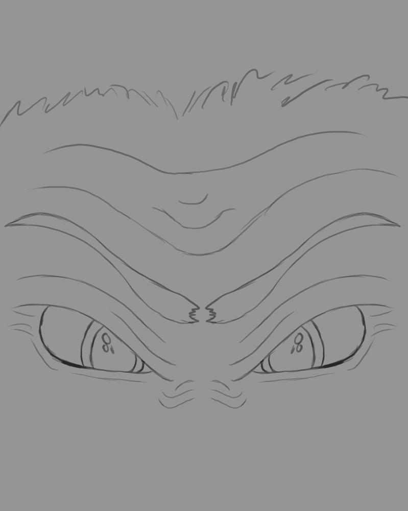 Angry Eyes Daily sketch #533 by GothicVampireFreak