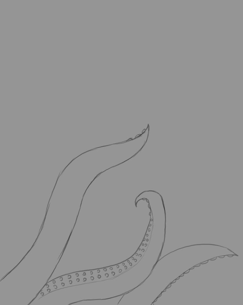 Tentacles Daily sketch #534 by GothicVampireFreak