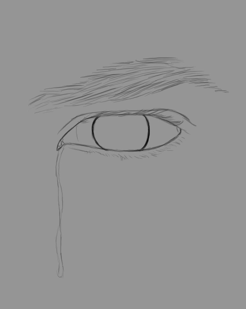 Crying Eye Daily sketch #540 by GothicVampireFreak