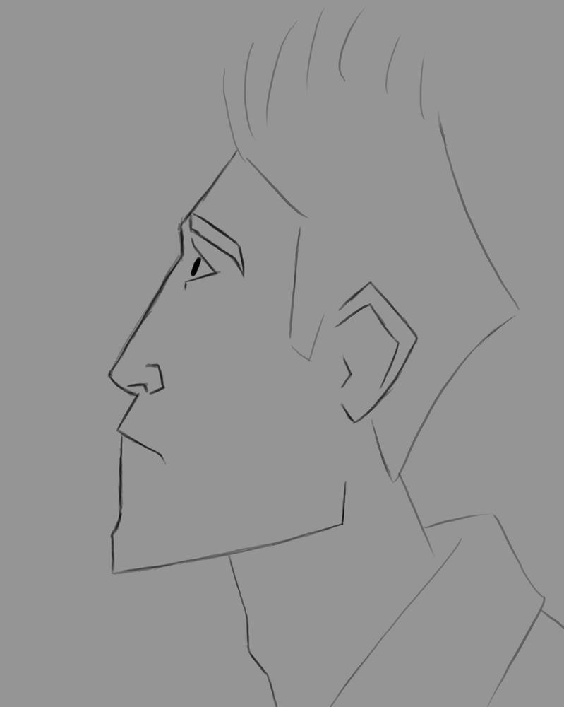 A Man Daily sketch #543 by GothicVampireFreak