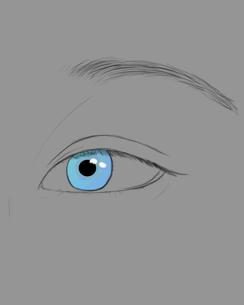 Blue Eye Daily sketch #553 by GothicVampireFreak