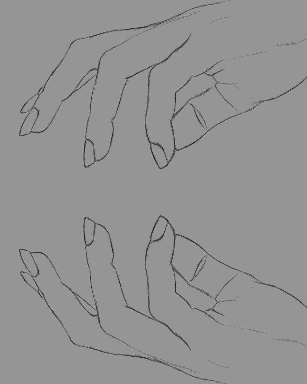 Hands  Daily sketch #554 by GothicVampireFreak