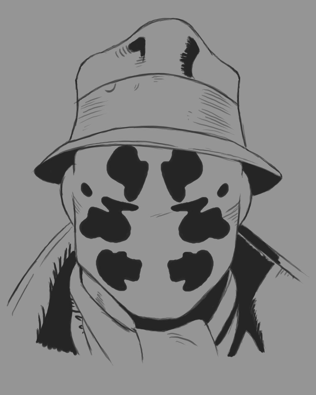 Rorschach Daily sketch #556 by GothicVampireFreak