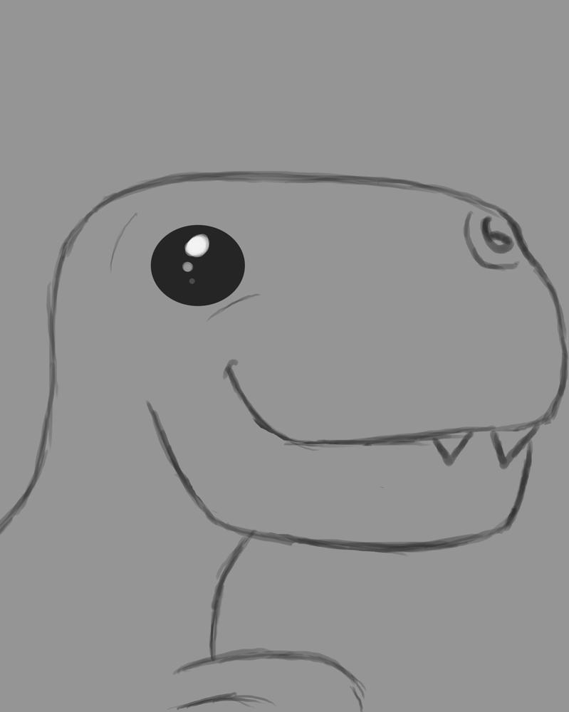 Internet Dino Daily sketch #558 by GothicVampireFreak