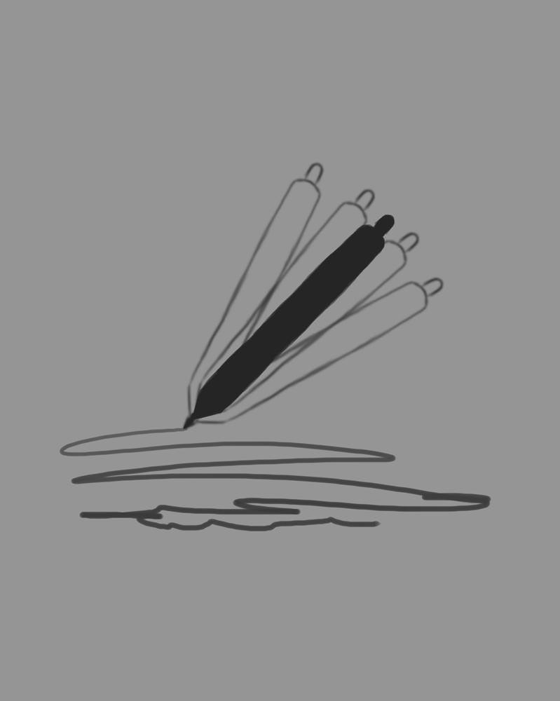 WorkWork Daily sketch #562 by GothicVampireFreak